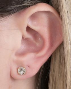 Kit piercing fake dourado com pedra cristal Winkx