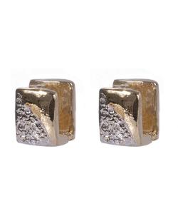 Argola folheada dourada com prata Tuka
