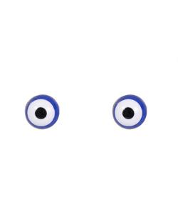 Brinco pequeno folheado dourado olho grego Pixel