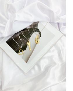 Colar dourado com pérola Styles
