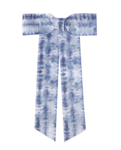 Presilha prateada com Tie Dye azul Bruck