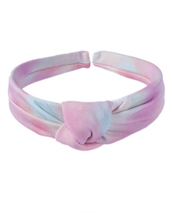 Tiara de tecido tie dye 8