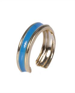 Piercing fake dourado e azul Bali