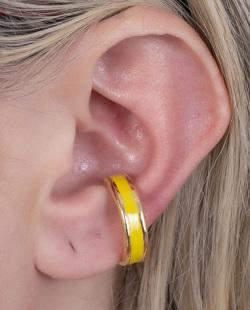 Piercing fake dourado e amarelo Bali