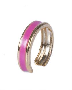 Piercing fake dourado e pink Bali