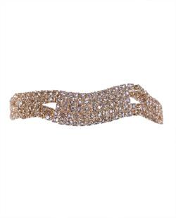 Pulseira dourada com strass cristal Gaudi