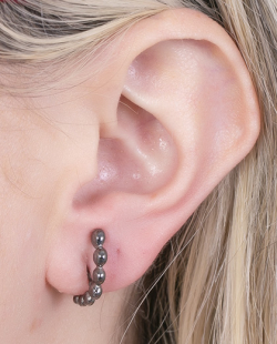 Ear hook grafite Lyann