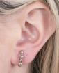 Ear hook prateado Lyan