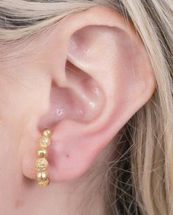 Ear hook dourado Kylies