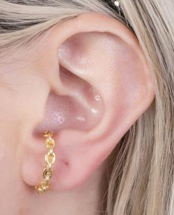 Ear hook dourado Dubai