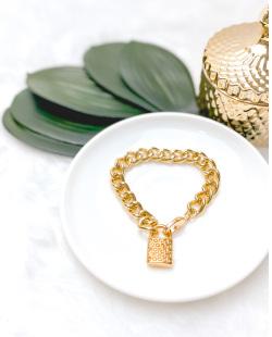 Pulseira dourada Cobasi