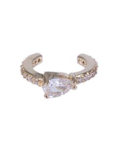 Piercing fake dourado com pedra e strass cristal Rome