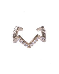 Piercing fake dourado strass cristal Sofia
