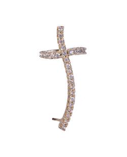 Piercing fake dourado strass cristal Turim