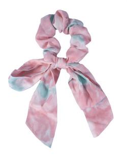 Laço de tecido tie dye rosa Azuki