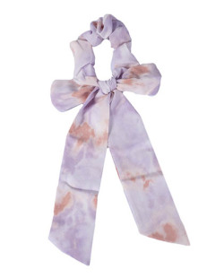 Laço de tecido tie dye lilás Azuki