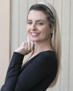 Tiara com strass furta-cor Melissa