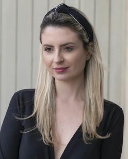 Tiara de tecido preto com strass cristal Pargus