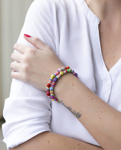 Kit 2 pulseiras coloridas Amazin