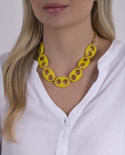 Colar amarelo e dourado Birke