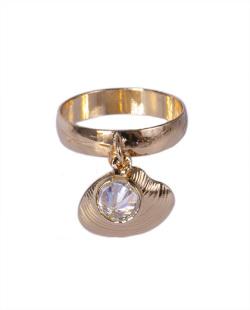 Anel dourado com pedra cristal Anakin