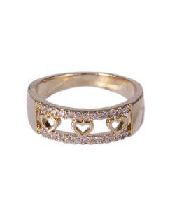 Anel dourado com strass cristal Grinch
