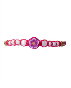Pulseira rosa Flower
