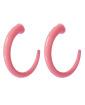 Argola rosa Gio