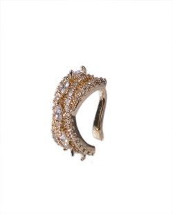 Piercing fake dourado com strass cristal Razze