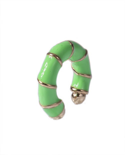 Piercing fake dourado e verde neon Jolie