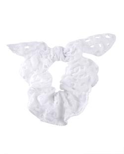 Laço de tecido branco Joana