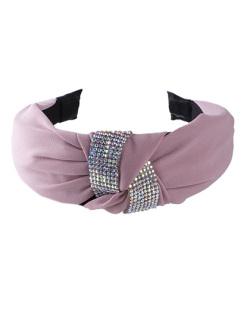 Tiara de tecido rosa e strass furta-cor Vicky
