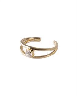 Piercing fake dourado com pedra cristal Dany