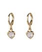 Argola folheada dourada com pedra cristal Jessie