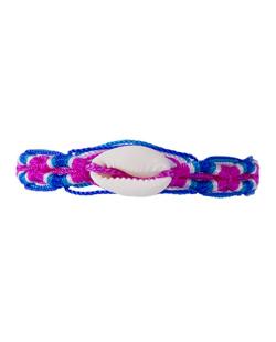 Pulseira azul e pink Tingua