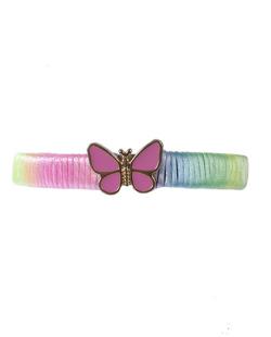 Pulseira tie dye com rosa Fly