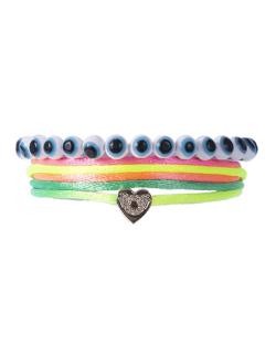 Kit 2 pulseiras colorida neon Lisa