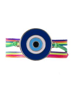 Pulseira colorida com azul Mannu
