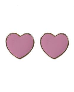 Brinco pequeno dourado e rosa Nika