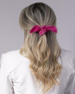 Laço de tecido rosa Tânia