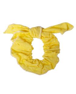 Laço de tecido amarelo Tânia