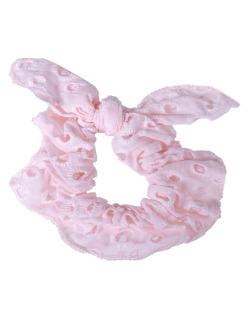 Laço de tecido rosa claro Tânia