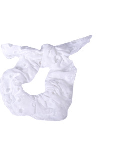 Laço de tecido branco Tânia