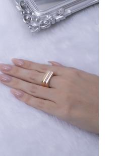 Kit de anéis dourado e rosé Jake