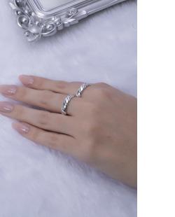 Kit de anéis prateado Fait