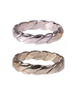 Kit de anéis dourado e rosé Fait