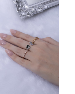 Kit de anéis dourado e rosé Fer
