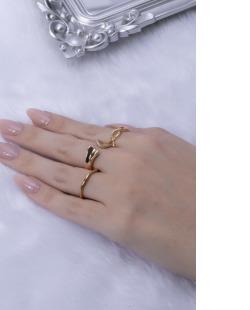 Kit de anéis dourado Fer