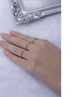 Kit de anéis dourado Gika