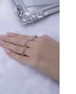 Kit de anéis prata, dourado e rosé Ani